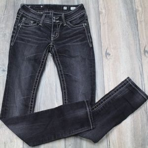 Miss Me Jeans Skinny Black Double button